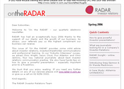 Radar-Ir Newsletter