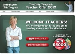 Teachers Subscription Campaign