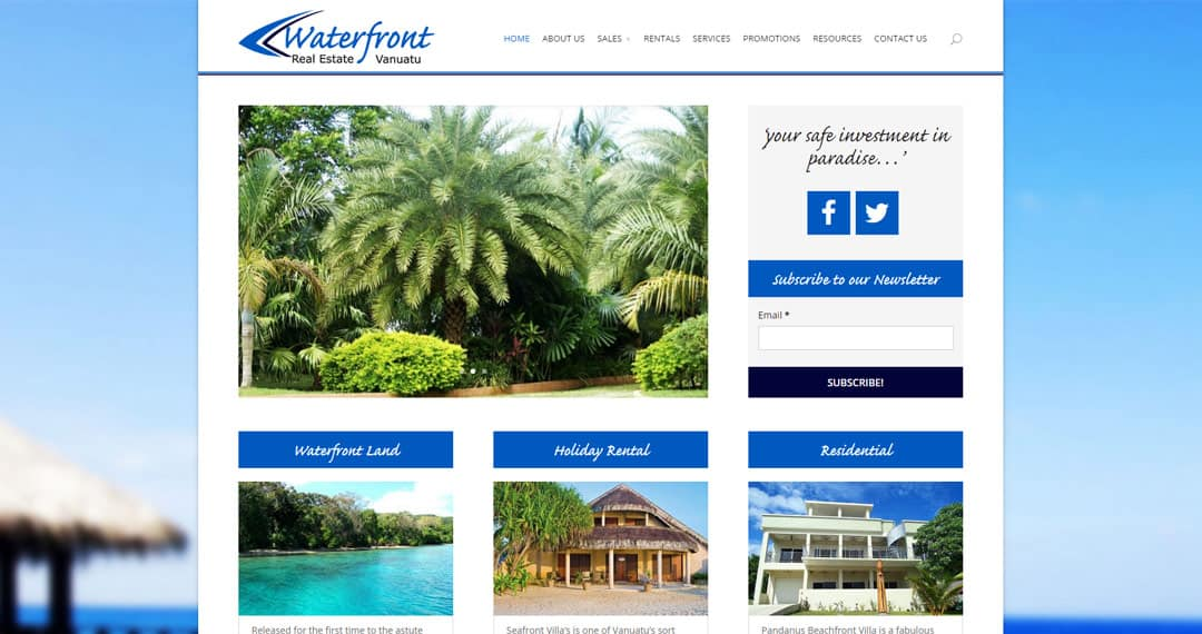 Waterfront Real Estate Vanuatu