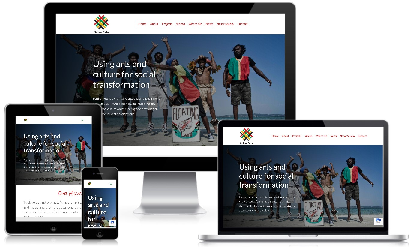 Further Arts Vanuatu Nonprofit Website Redesign