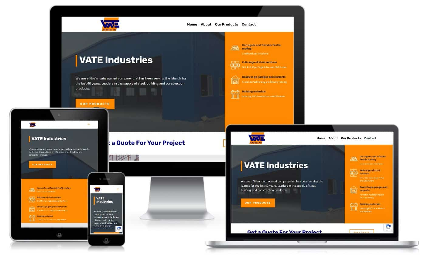 Vate Industries Vanuatu Website