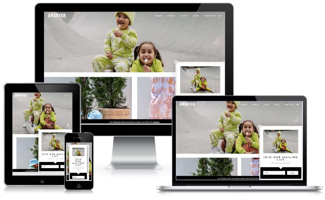 Amaryah Basics Ecommerce Website